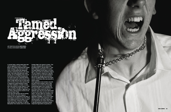 David Bushell - Tamed Aggression - Opening spread.