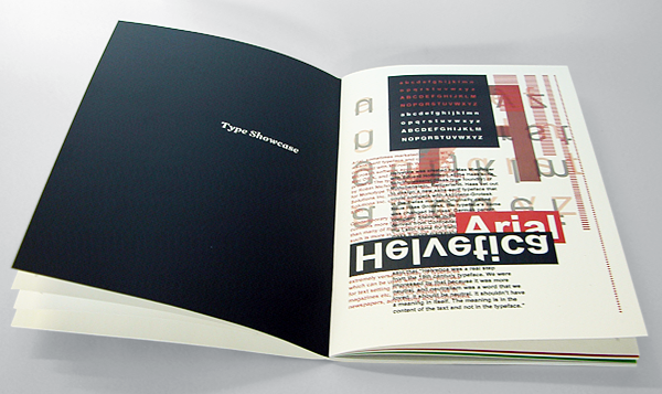 David Bushell - Digital Legibility - Inside spread of type showcase.