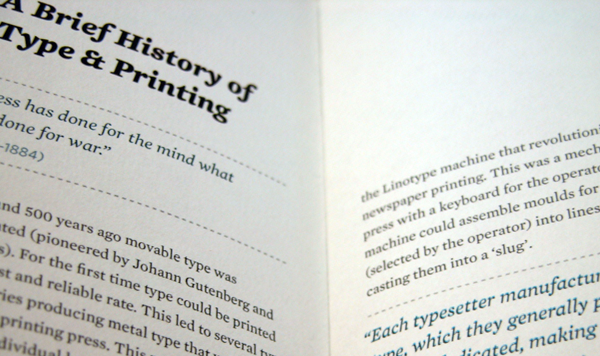 David Bushell - Digital Legibility - Close-up of typography.