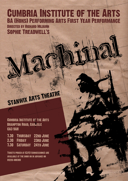 David Bushell - Machinal - screen printed poster.