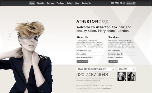 David Bushell - Web Design - Atherton Cox home page.