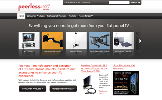 David Bushell - Web Design - Peerless home page.